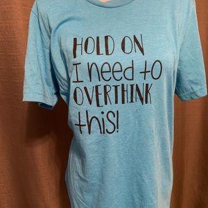 Tops - Blue graphics T-shirt medium